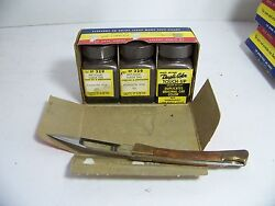 1958 Plymouth Dupli-color Touch-up Metallic Suede Nos Orig 3 Bottle Box
