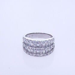 2.63ct Mix Cut Diamond Band F Si In 18k White Gold