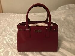 SALVATORE FERRAGAMO Batik Burgundy  Corniola Leather Satchel NWT Box MINT RARE