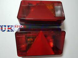 2x Rear Tail Lights Lamps + Plate Light For Caravan Camper Bus Trailer E9 Marked