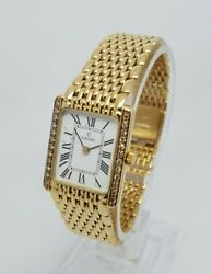 Concord 18k Yellow Gold Ladies Diamond Watch 23mm x 19mm Box & Papers