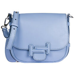 TOD'S WOMEN'S LEATHER CROSS-BODY MESSENGER SHOULDER BAG BLUE 745