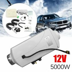 12V 5KW Car Auto Diesel Air Fuel Heater Digital Switch with Muffler + 10 Tank ZS