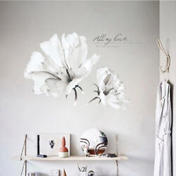 Decoration Stickers on the Wall 3D Flower Plant Wall Sticker Living Room Vinyl