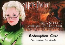 Harry Potter And The Goblet Of Fire, Rita Skeeter Auto Redemption Card