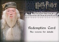 Harry Potter And The Order Of The Phoenix, Albus Dumbledore Auto Redemption Card
