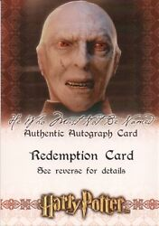 Harry Potter And The Sorcerer's Stone, Richard Bremmer Auto Redemption Card