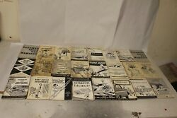 Original Chrysler Service Reference Book Lot Of 42 Pieces 1948-1958 1940s 1950s