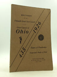 RECORDS OF 15TH GREAT SUN COUNCIL 1926 - Degree of Pocahontas Council of Ohio