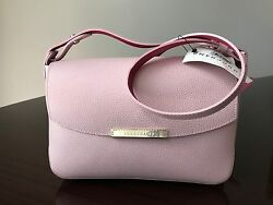 NWT Authentic Longchamp Le Foul City Cross-body Pink Leather Bag MSRP$415.00