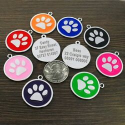 PetArtist® Dog ID Tags Paw For Cat Dog Personalized Pet Puppy Tag Custom Collar