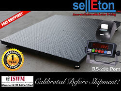 Floor Scale / Pallet Size 60 X 60 With Indicator And Printer 2500 Lbs X .5 Lb