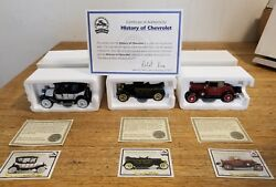 National Motor Museum History Of Chevrolet Cars Set Of 3 Die Cast