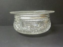 Stunning Signed Hawkes American Brilliant Cut Glass Centerpiece, C. 1880-1900