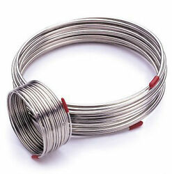 50ft 304 Stainless Steel Flexible Hose Outer Diameter 1/2 Gas Liquid Tube Gy
