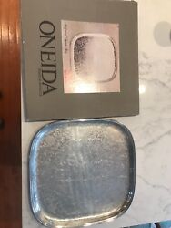 Oneida 16andrdquo Square Silver Serving Tray Never Used