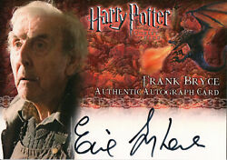 Harry Potter And The Goblet Of Fire,eric Sykes 'frank Bryce' Auto Card