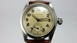 Rolex Rare Vintage 1937 Stainless Steel Oyster Manual Wind Watch 2280
