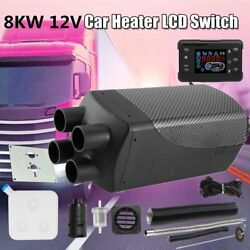 8KW 12V Car Auto Air diesel Fuel Heater 4 Holes + LCD Switch + Air Filter ZS
