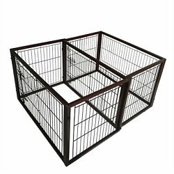 Simply Plus Dog Crate [2017Newly Designed Model] Solid Wooden Frame+ Metal