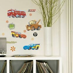 Lovely Cartoon Cars Removable Wall Stickers For Kids Boys Room Decoration Self
