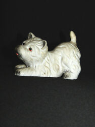 Westie West Highland Terrier Dog Ceramic Figurine Ready to Play