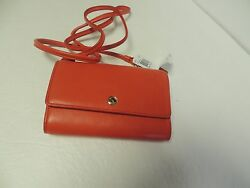 Coach SMALL LEATHER PHONE crossbody in watermelon #63154 NWT