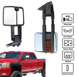 Power Heated Light Tow Mirror Clearance+backup For Silverado Sierra 2014-2018