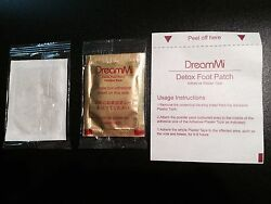 5000P  DreamMi GOLD Premium Detox Foot Patch Powder Pack + Adhesive Plaster Tape