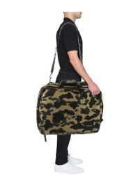 A Bathing Ape BAPE large travel bag messenger backpack Authentic rare