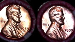 1959 P And D Bu Rolls Lincoln Memorial Cent Sealed Original 1-order Gets Both