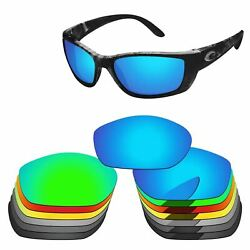 PapaViva Polarized Replacement Lenses For-Costa Del Mar Fisch Frame -Colors