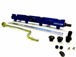Obx Racing Sports Blue Fuel Rail Pipe For 02-04 Acura Rsx K20a2 K20a3 Engine