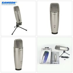 Samson C01U Pro USB Studio Condenser Microphone Real-time Recording Large Diaph