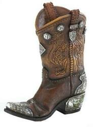 Burton And Boots And Spurs Western Cowboy Boot Vase For Home...