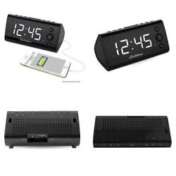 Electrohome Alarm Clock Radio with USB Charging for Smartphones amp; Tablets...