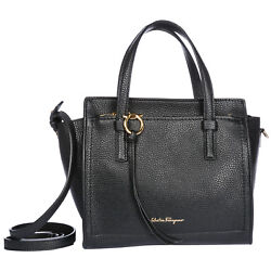 SALVATORE FERRAGAMO WOMEN'S LEATHER HANDBAG SHOPPING BAG PURSE NEW MINI TOTE 60B