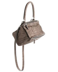GIVENCHY Pandora Pepe Small Leather Messenger Shoulder Bag in Charcoal