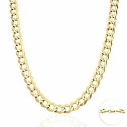 Solid 14k Yellow Gold 9.7mm Cuban Curb Chain Necklace 20 22 24 26 28 30