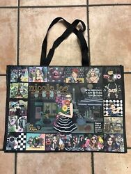 Nicole Lee Tote Shopping Beach Bag Black A Day In Paris Girl Lightweight 21quot; $9.99