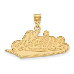 University Of Maine Black Bears School Name Pendant In 14k And 10k Yellow Gold