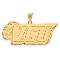 Virginia Commonwealth Rams School Letters Logo Pendant In 14k And 10k Yellow Gold