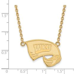 Western Kentucky Hilltoppers School Letters Pendant Necklace In 14k Yellow Gold