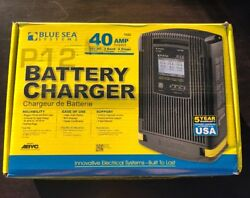 NEW Blue Sea Systems P12 Battery Charger 7522 40 amp ~ 12V ~ 3 bank ~ 4 Stage