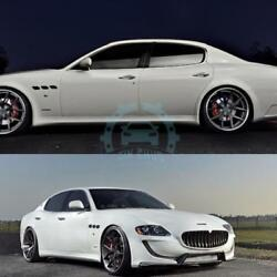 Front Rear Bumper Side Skirt Spoilers Fit For Maserati quattroporte Resin Refit