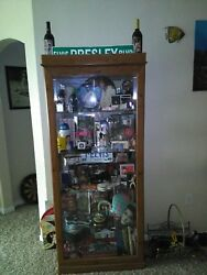 Elvis Collectibles In China Cabinet Over 25 Yrs Of.collecting.