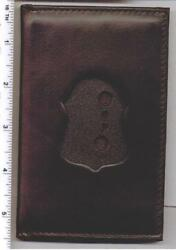 Philadelphia Police Detective Recessed Badge Cut-out Wallet Holds Dual Id Cards