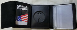 Philadelphia Police Liuetenant Recessed Badge Cut-out Wallet Holds Money/cc