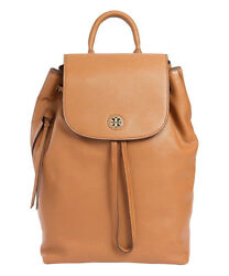 Tory Burch Women's Brody Leather Backpack - Bark