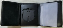 Philadelphia Police Sergeant's Recessed Badge Cut-out Wallet Holds Money/cc